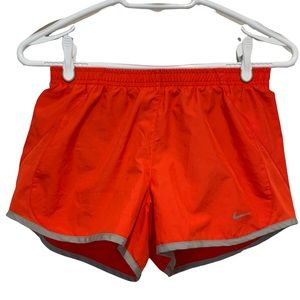 Nike Red and Gray athletic shorts